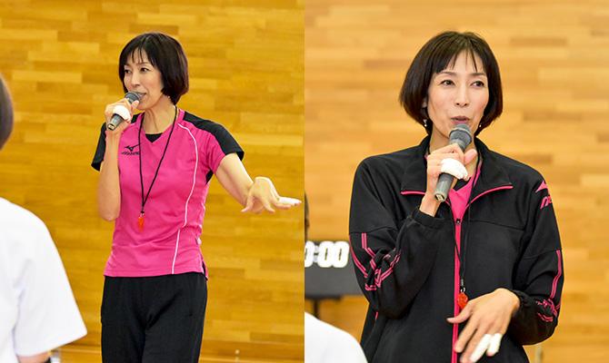 元全日本のエースアタッカー 大林素子さんのバレーボール教室