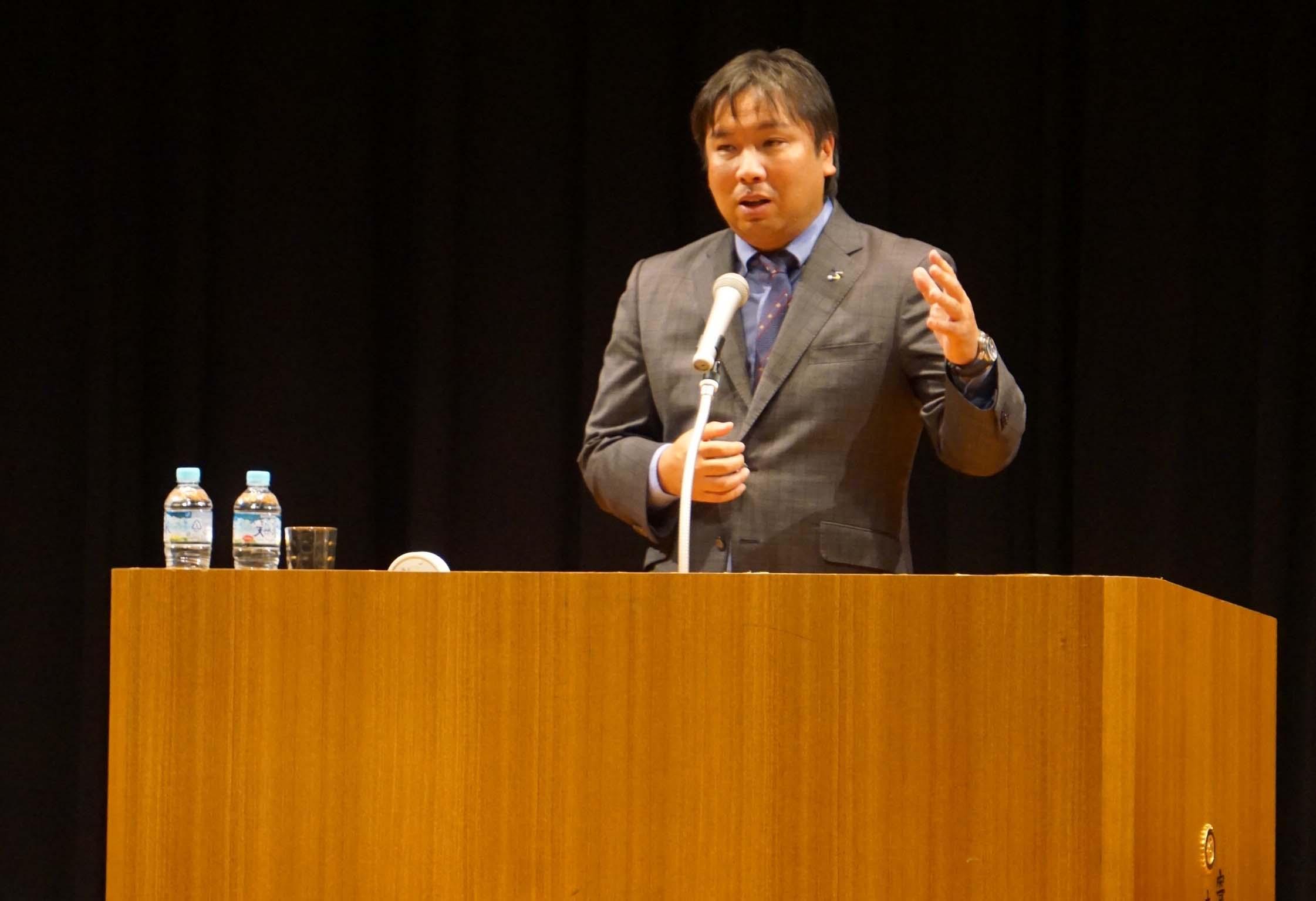 千葉県内で里崎智也氏が講演会