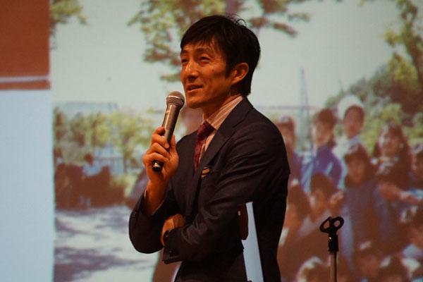 朝原宣治氏が岐阜県で講演