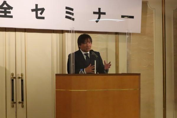 里崎智也氏が東京都内で講演会